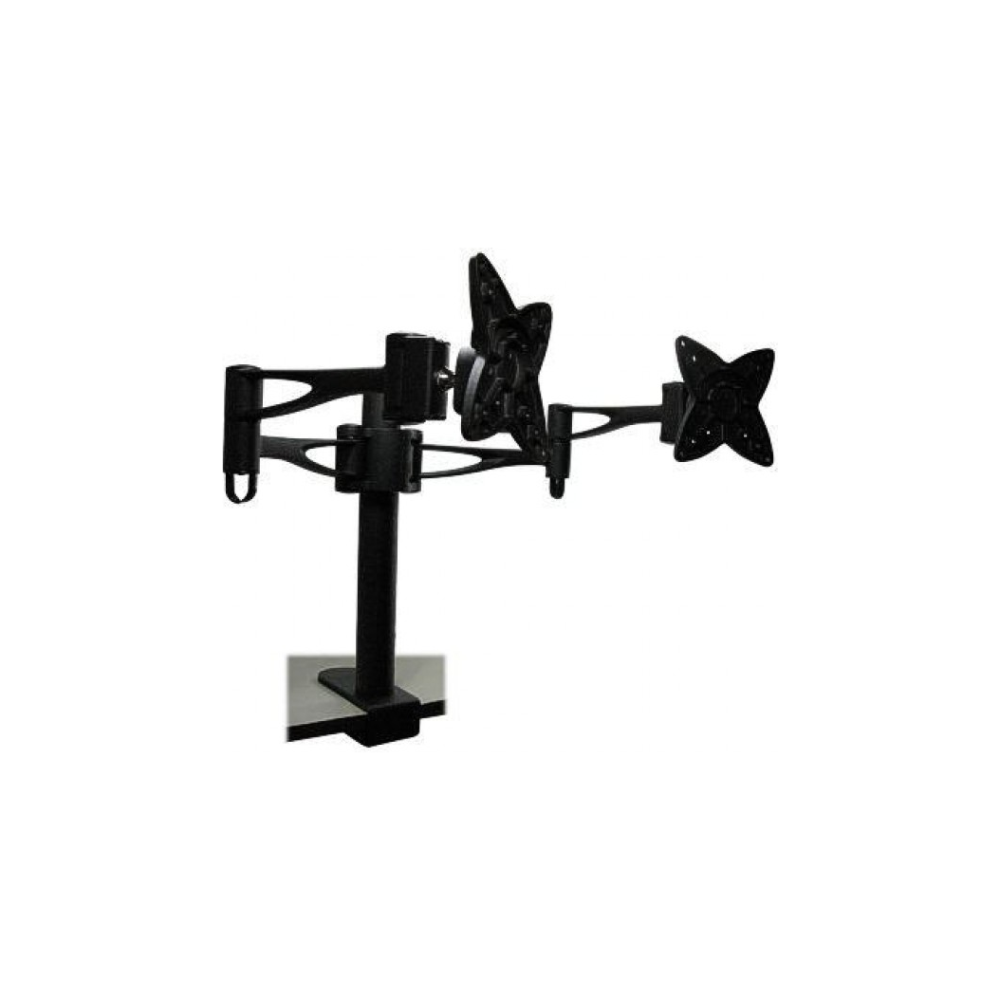 A large main feature product image of Brateck LCD-T9 Dual Monitor Table Stand with Arms