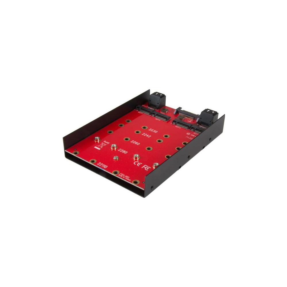 A large main feature product image of Startech 4x M.2 to SATA 3.5in Mounting Adapter