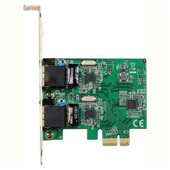 Product image of Startech PCIe 2 Port Gigabit Ethernet Network Card - Click for product page of Startech PCIe 2 Port Gigabit Ethernet Network Card