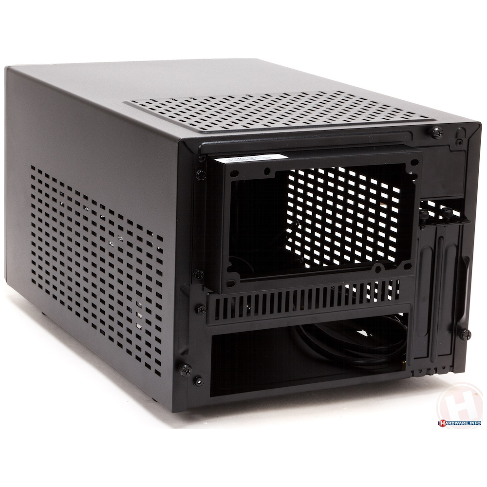 A large main feature product image of Cooler Master Elite 130 Black mITX Case