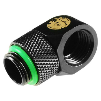 Product image of Bitspower G1/4 Matte Black 90° Rotary IG1/4 Extender - Click for product page of Bitspower G1/4 Matte Black 90° Rotary IG1/4 Extender