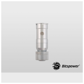 "Product image of Bitspower G1/4"" 13mm 1/2"" Shining Silver Female Quick Disconnect Rotary Compression Fitting - Click for product page of Bitspower G1/4"" 13mm 1/2"" Shining Silver Female Quick Disconnect Rotary Compression Fitting"