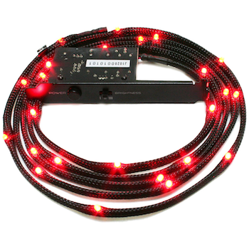 Product image of NZXT Sleeved Red LED Cable 200CM - Click for product page of NZXT Sleeved Red LED Cable 200CM