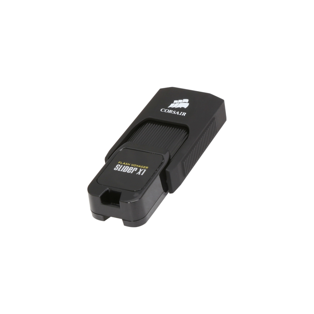 A large main feature product image of Corsair Flash Voyager Slider X1 32GB USB3.0 Flash Drive