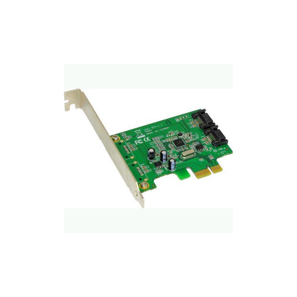 A large main feature product image of Shintaro 2 Port PCIe SATA3 6Gb/s Expansion Card
