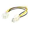 A product image of Startech ATX12V 4 Pin P4 CPU Power Extension 0.2M