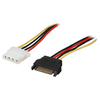 A product image of Startech SATA to LP4 Power Cable Adapter F-M 0.3M Cable