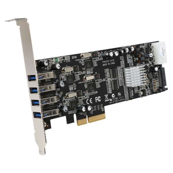 Product image of Startech 4 Port PCIe USB 3.0 Card w/ 4 Channels - Click for product page of Startech 4 Port PCIe USB 3.0 Card w/ 4 Channels