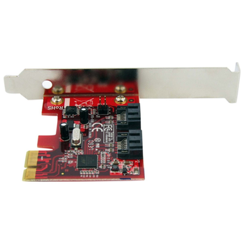 Product image of Startech 2 Port PCIe SATA 6 Gbps Controller Card - Click for product page of Startech 2 Port PCIe SATA 6 Gbps Controller Card