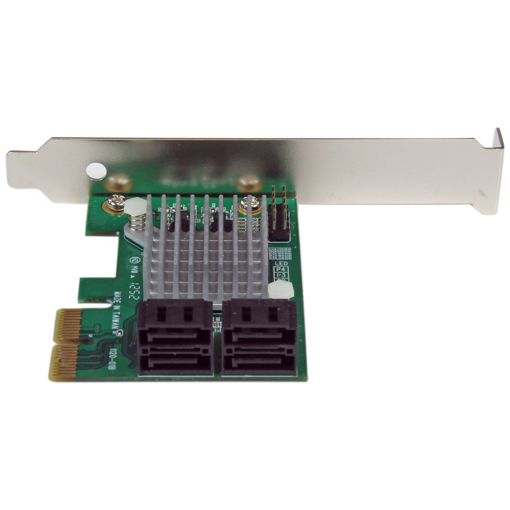 A large main feature product image of Startech 4 Port PCIe SATA III Controller Card