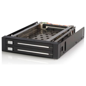 Product image of Startech 2 Drive 2.5in Trayless SATA Mobile Rack - Click for product page of Startech 2 Drive 2.5in Trayless SATA Mobile Rack
