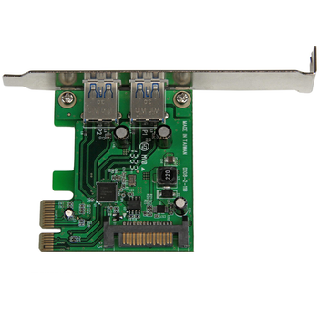 Product image of Startech 2 Port PCIe USB 3.0 Card Adapter w/ UASP - Click for product page of Startech 2 Port PCIe USB 3.0 Card Adapter w/ UASP