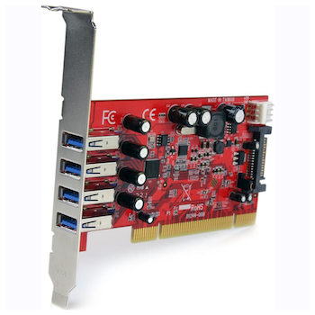 Product image of Startech 4 Port PCI USB 3.0 Card w/ SATA Power - Click for product page of Startech 4 Port PCI USB 3.0 Card w/ SATA Power