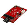A product image of Startech SATA to mSATA Adapter Converter Card