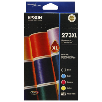 Product image of Epson 273XL High Capacity Premium Ink Value Pack - Click for product page of Epson 273XL High Capacity Premium Ink Value Pack