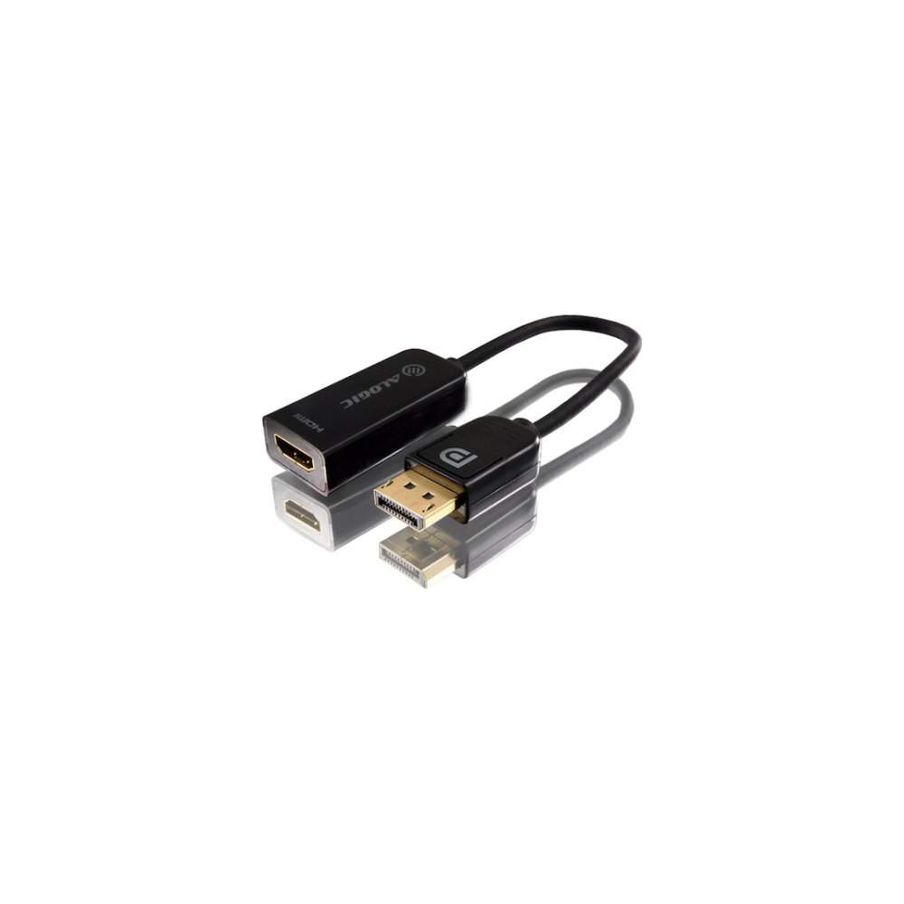 A large main feature product image of ALOGIC 15cm DisplayPort to HDMI Adapter Male to Female