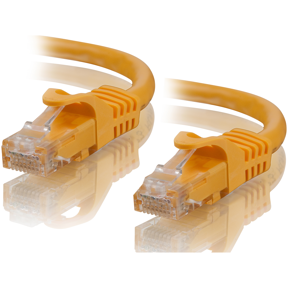 A large main feature product image of ALOGIC CAT6 1m Network Cable Yellow