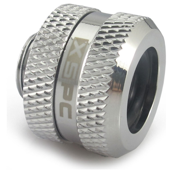 Product image of XSPC G1/4 14mm OD Chrome Triple-Seal PETG Fitting - Click for product page of XSPC G1/4 14mm OD Chrome Triple-Seal PETG Fitting