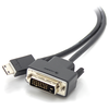 A product image of ALOGIC 1m Mini HDMI to DVI Cable Male to Male