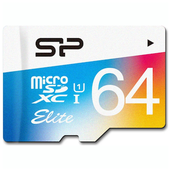 Product image of Silicon Power 64GB Elite UHS-1 microSD Card (inc. SD Adapter) - Click for product page of Silicon Power 64GB Elite UHS-1 microSD Card (inc. SD Adapter)
