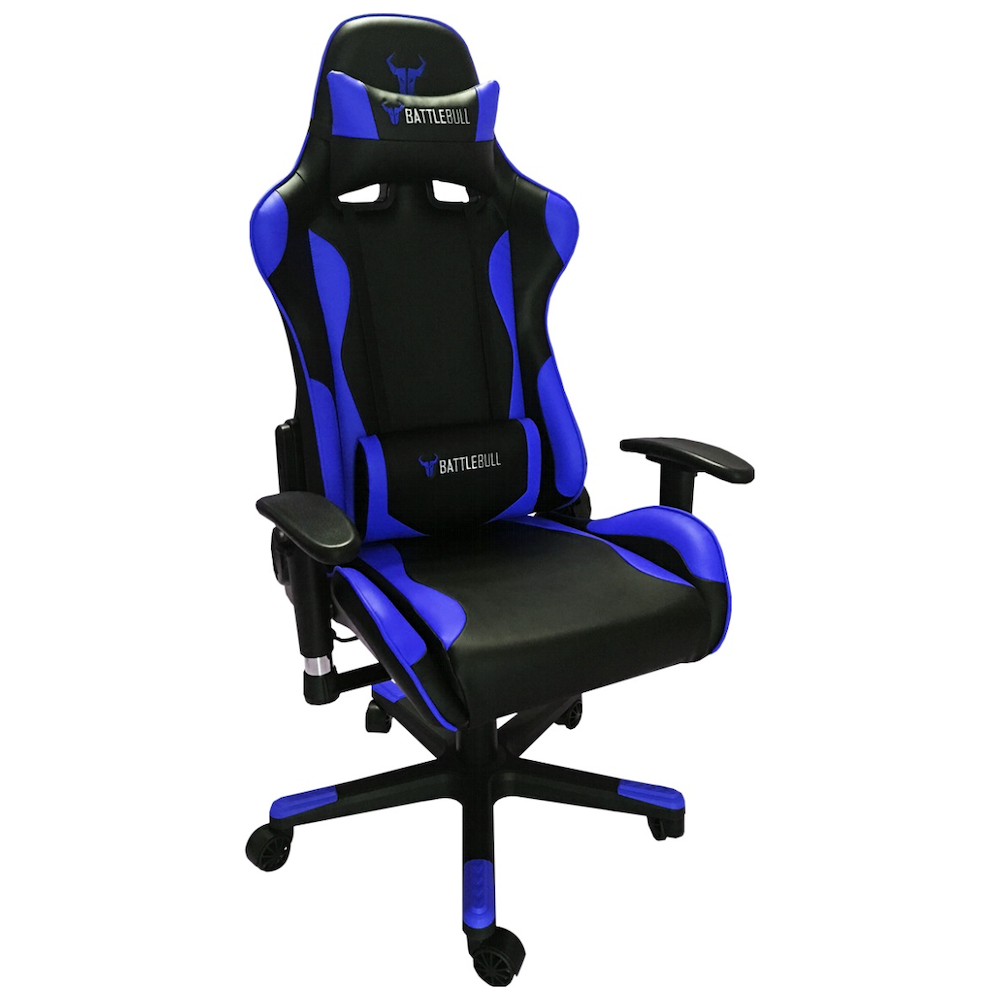 A large main feature product image of BattleBull Combat Gaming Chair Black/Blue
