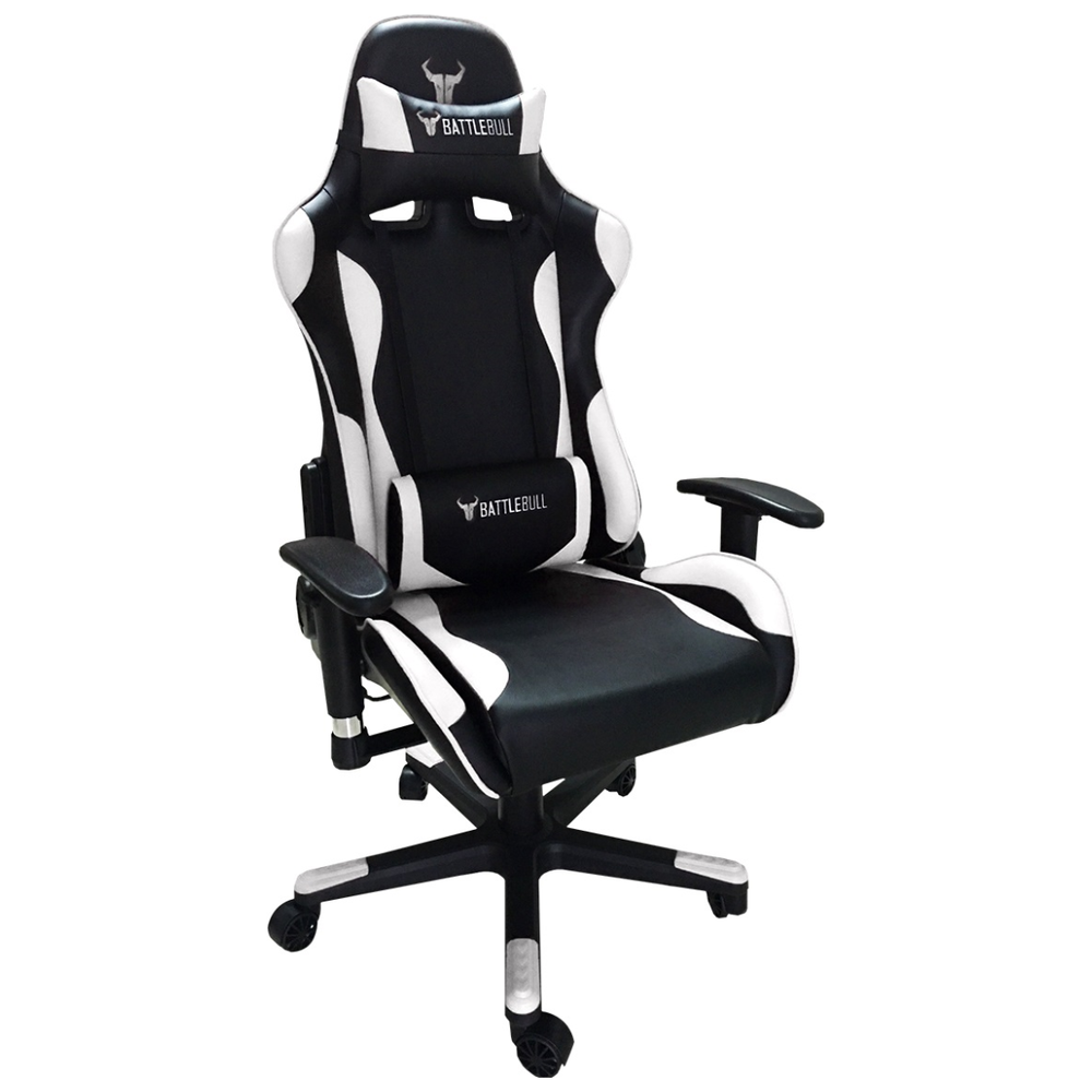 A large main feature product image of BattleBull Combat Gaming Chair Black/White