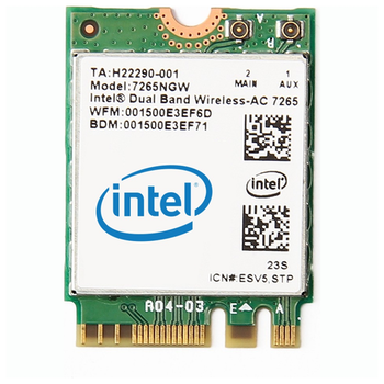 Product image of Intel 7265 802.11ac Dual-Band Wireless M.2 Adapter - Click for product page of Intel 7265 802.11ac Dual-Band Wireless M.2 Adapter