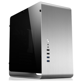 Product image of Jonsbo UMX3 Silver mATX Case w/Side Panel Window - Click for product page of Jonsbo UMX3 Silver mATX Case w/Side Panel Window