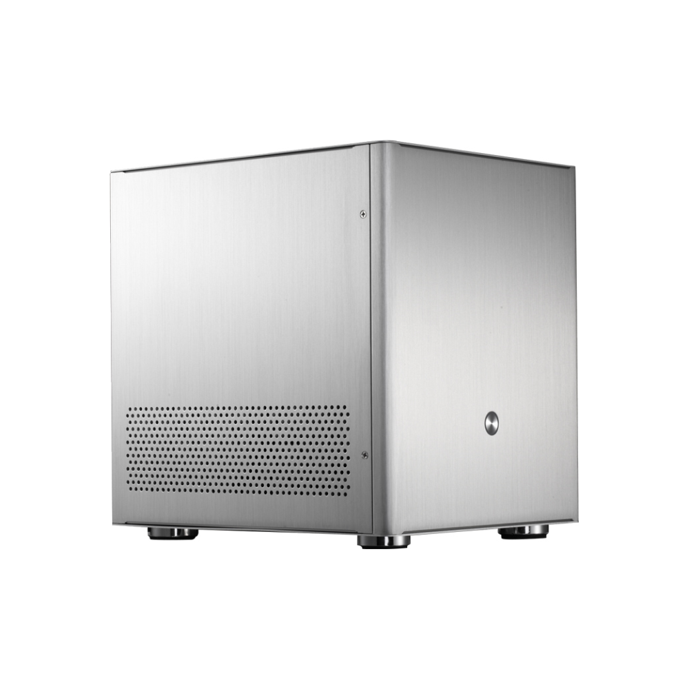 A large main feature product image of Jonsbo V4 Silver mATX Case