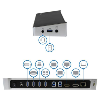 Product image of Startech USB3.0 Docking Station for Two Laptops - Click for product page of Startech USB3.0 Docking Station for Two Laptops