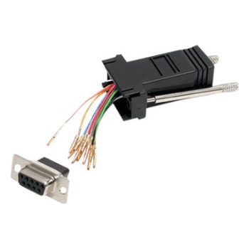 Product image of Startech DB9 to RJ45 Modular Adapter - F/F - Click for product page of Startech DB9 to RJ45 Modular Adapter - F/F