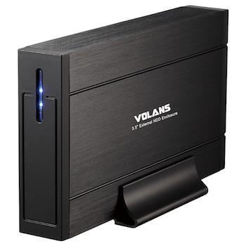 "Product image of Volans Aluminium 3.5"" USB3.0 HDD Enclosure - Click for product page of Volans Aluminium 3.5"" USB3.0 HDD Enclosure"