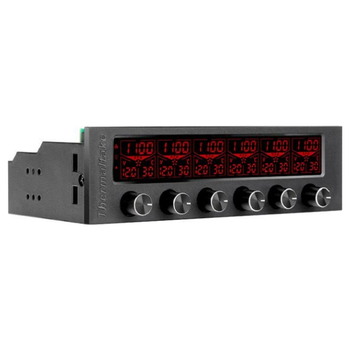 "Product image of Thermaltake Commander F6 RGB LCD 5.25"" Fan Controller  - Click for product page of Thermaltake Commander F6 RGB LCD 5.25"" Fan Controller"