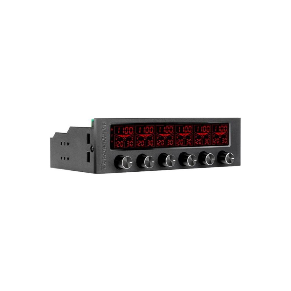 """A large main feature product image of Thermaltake Commander F6 RGB LCD 5.25"""" Fan Controller"""