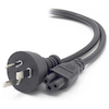 A product image of ALOGIC 1m Aus 3 Pin Mains Plug to IEC C5 Male to Female