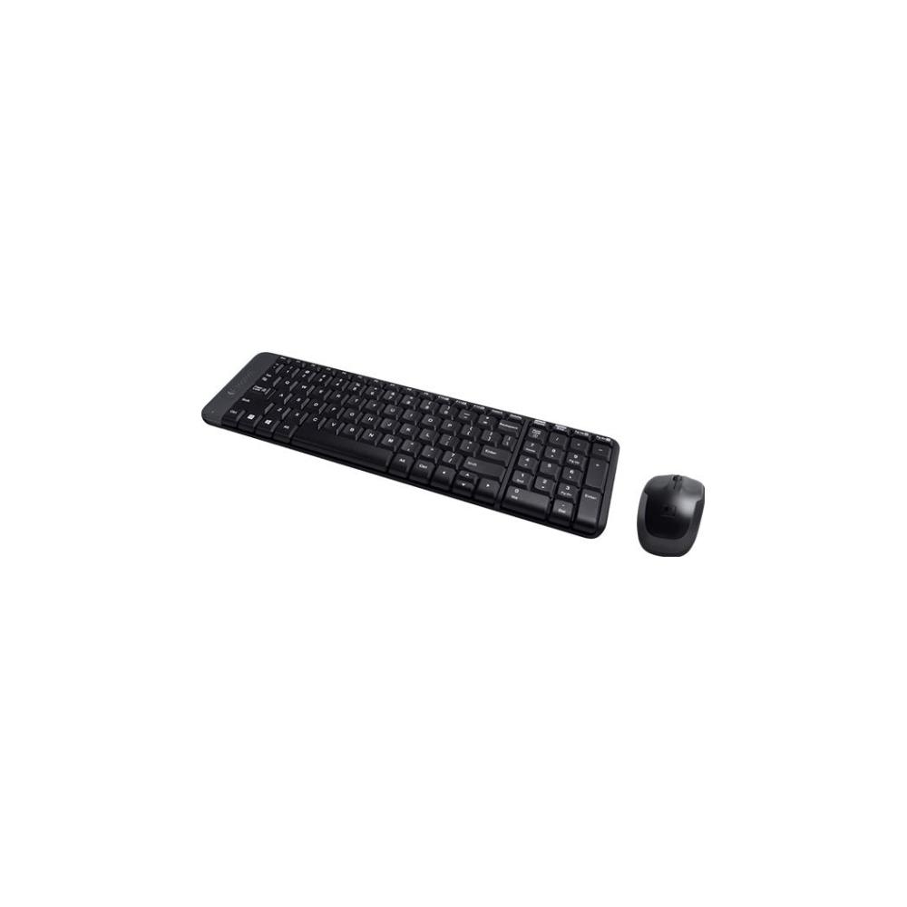 A large main feature product image of Logitech MK220 Cordless Desktop