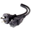 A product image of ALOGIC 5m Aus 3 Pin Mains Plug to IEC C15 High Temperature  Male to Female