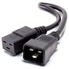 A product image of ALOGIC 0.5m IEC C19 to IEC C20 Power Extension Cable Male to Female