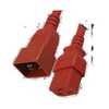 A product image of ALOGIC 2m IEC C19 to IEC C20 Power Extension  Male to Female Cable Red