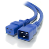 A product image of ALOGIC 2m IEC C19 to IEC C20 Power Extension  Male to Female Cable Blue
