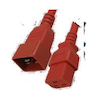A product image of ALOGIC 3m IEC C19 to IEC C20 Power Extension Male to Female Cable Red