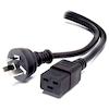 A product image of ALOGIC 2m Aus 3 Pin Mains Plug to IEC C19 Male to Female