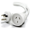 A product image of ALOGIC 20m Aus 3 Pin Mains Power Extension Cable WHITE   Male to Female