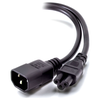 A product image of ALOGIC 2m IEC C14 to IEC C5 Male to Female Cable