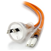 A product image of ALOGIC 2m Power Cord 2 Pin Aus (M) IEC C7 Medical Appliance Power Cord (Class2) Orange