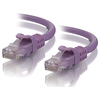 A product image of ALOGIC CAT6 0.3m Network Cable Purple