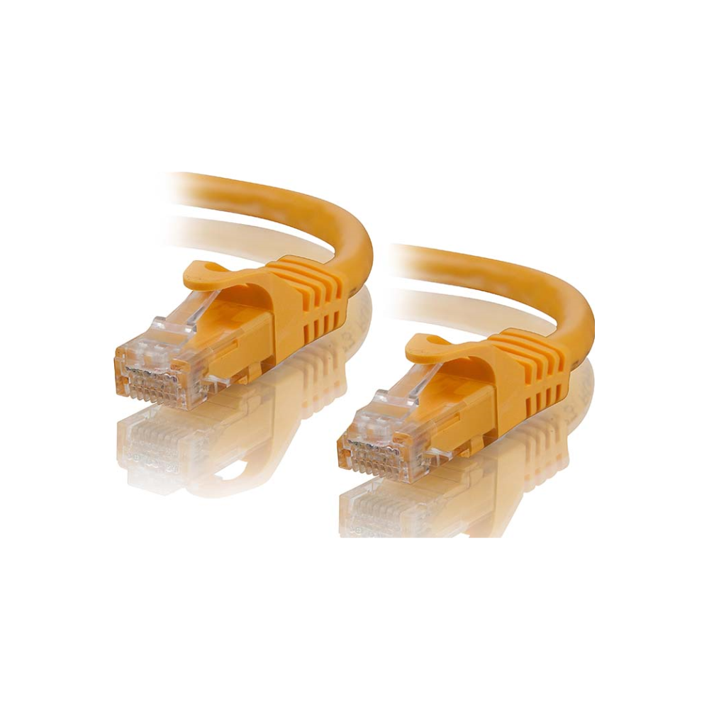 A large main feature product image of ALOGIC CAT6 0.3m Network Cable Yellow