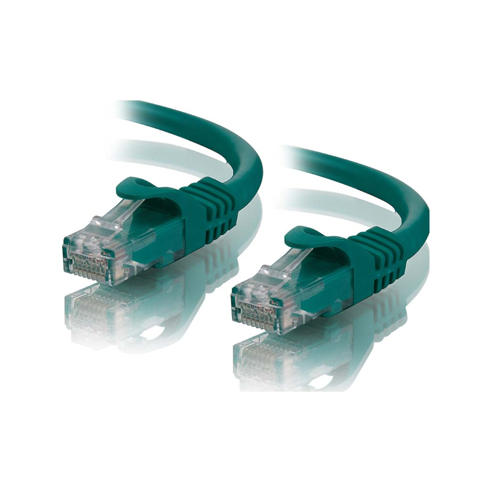 A large main feature product image of ALOGIC CAT6 15m Network Cable Green