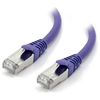 A product image of ALOGIC CAT6A 10m 10GbE Shielded LSZH Network Cable Purple