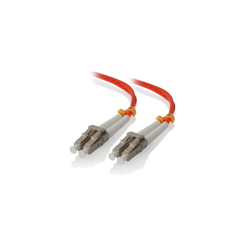 A large main feature product image of ALOGIC 1m LCLC Multi Mode Duplex LSZH Fibre Cable 62.5/125 OM1